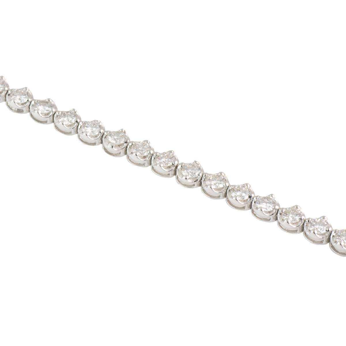 White Gold Diamond Line Bracelet 3.73ct G-H/VS1